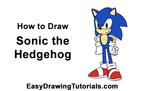 How to Draw Sonic the Hedgehog Full Body