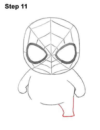 Draw Mini Chibi Little Spider-Man 11