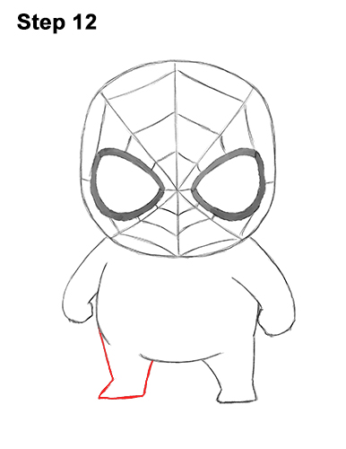 Draw Mini Chibi Little Spider-Man 12