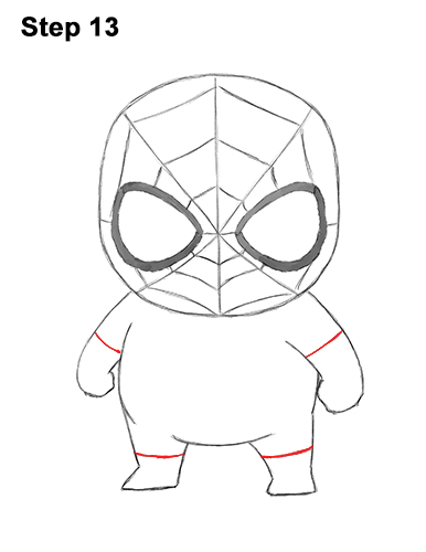 Draw Mini Chibi Little Spider-Man 13