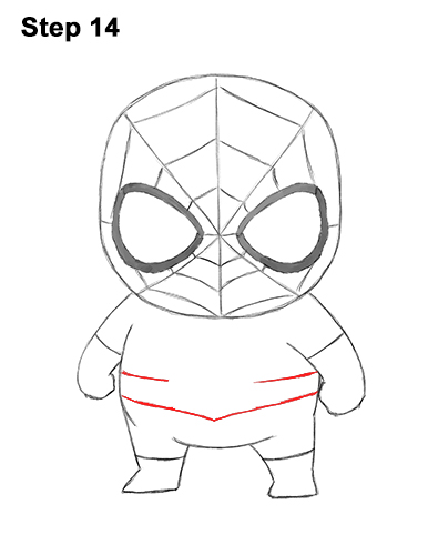 Draw Mini Chibi Little Spider-Man 14