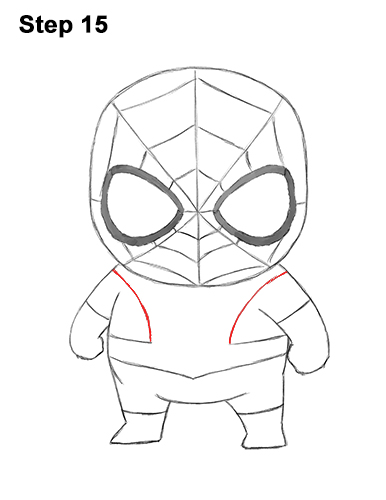 Draw Mini Chibi Little Spider-Man 15