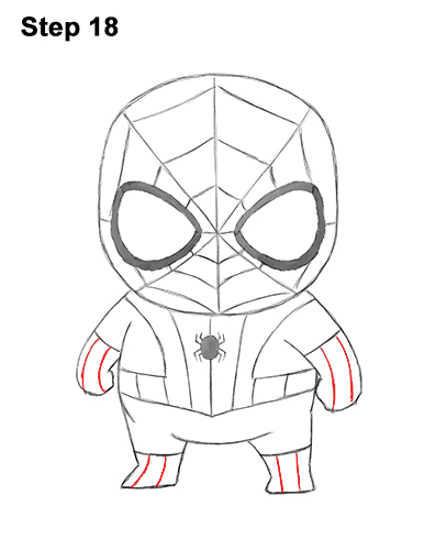Draw Mini Chibi Little Spider-Man 18
