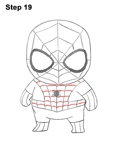 Draw Mini Chibi Little Spider-Man 19
