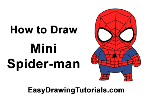 How to Draw Mini Chibi Spider-Man