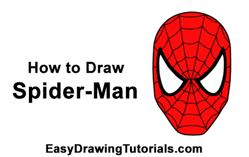 How to Draw Spider-Man Face Mask Head Marvel