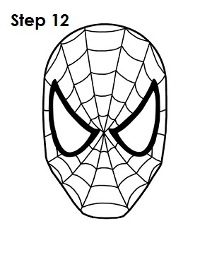 How to Draw Spider-Man Step 12