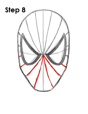 How to Draw Spider-Man Step 8