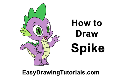 How to Draw Spike Dragon My Little Pony
