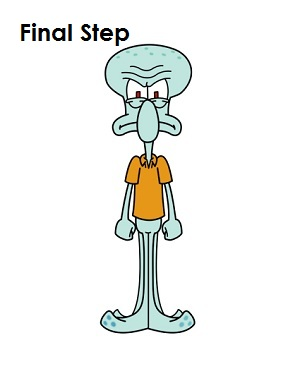 How to Draw Squidward Final Step