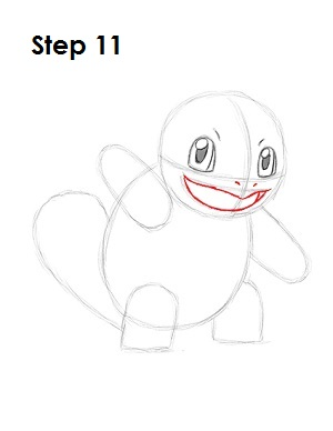How to Draw Squirtle Step 11