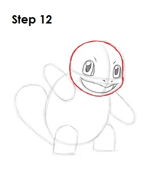 How to Draw Squirtle Step 12