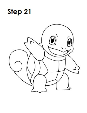 How to Draw Squirtle Step 21