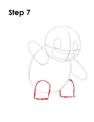 How to Draw Squirtle Step 7
