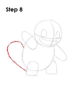 How to Draw Squirtle Step 8