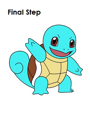 How to Draw Squirtle Step Last