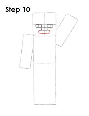Draw Steve Minecraft 10