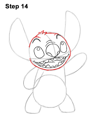 How to Draw Stitch Disney Lilo & Stitch 14