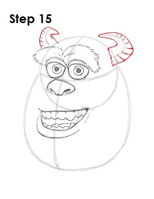 Draw Sulley Monster 15