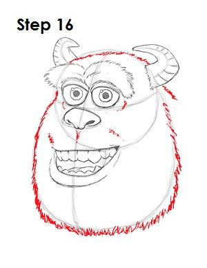 Draw Sulley Monster 16