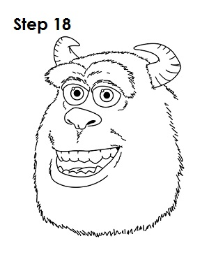 Draw Sulley Monster 18
