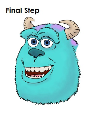 Draw Sulley Monster Final