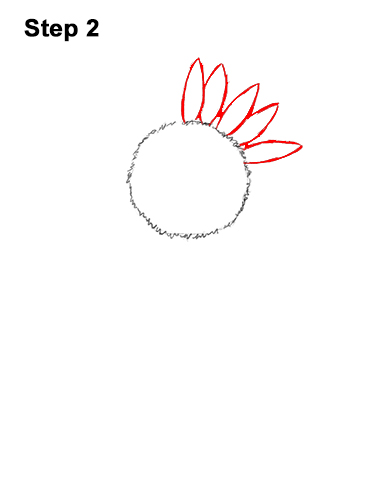 How to a Draw Cartoon Yellow Flower Sunflower 2