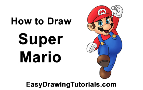 How to Draw Super Mario Bros. Nintendo