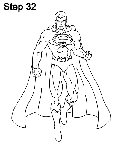 Draw Superman Full Body 32