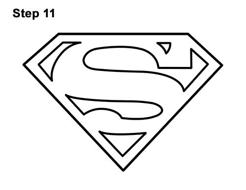 How to Draw the Superman Logo Symbol Icon Emblem 11