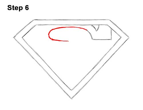 How to Draw the Superman Logo Symbol Icon Emblem 6
