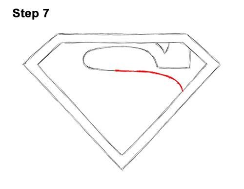 How to Draw the Superman Logo Symbol Icon Emblem 7