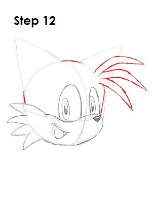 How to Draw Tails Step 12