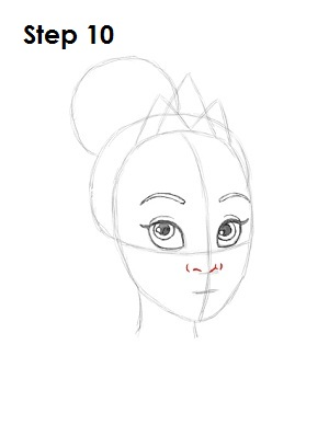 How to Draw Tiana Step 10