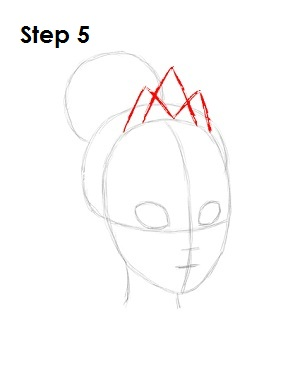 How to Draw Tiana Step 5