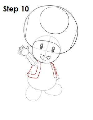 Draw Toad Step 10