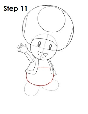 Draw Toad Step 11