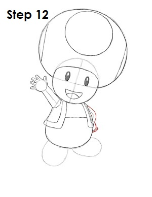 Draw Toad Step 12
