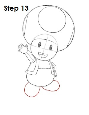 Draw Toad Step 13