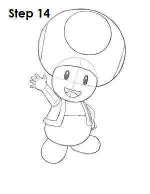 Draw Toad Step 14