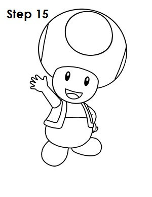 Draw Toad Step 15