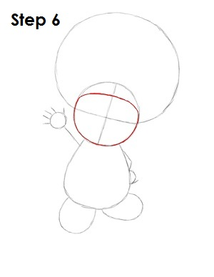 Draw Toad Step 6