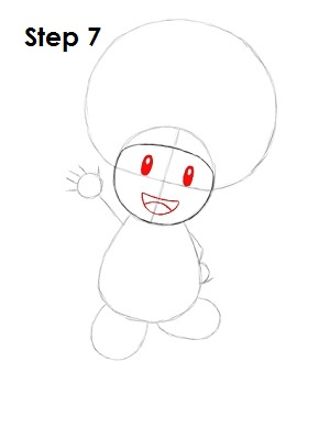 Draw Toad Step 7