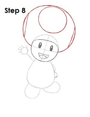 Draw Toad Step 8