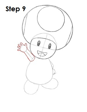 Draw Toad Step 9