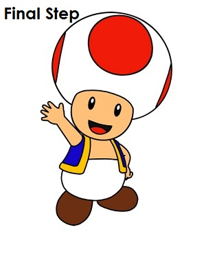 Draw Toad Step 16