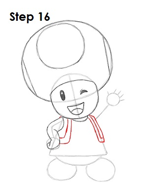 Draw Toadette 16