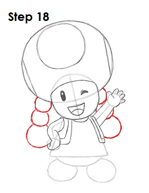 Draw Toadette 18