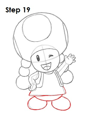 Draw Toadette 19