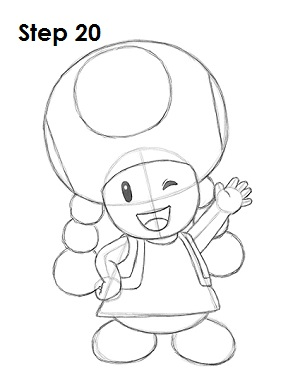 Draw Toadette 20